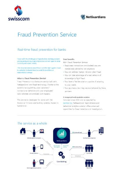 Datasheet Swisscom Fraud Prevention Service
