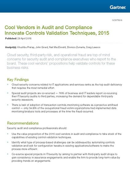 Analyst report gartner cool vendors 2015